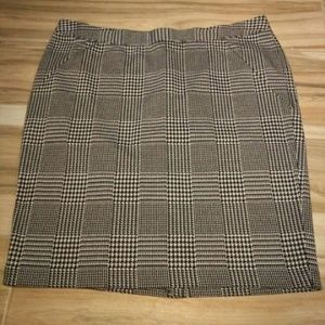 Lane Bryant Houndstooth Skirt Women's Size 22 (3X)